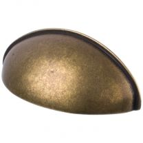 """Cup Pull """"Oval"""" Antique Bronze"""
