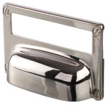 """Cup Pull """"Label"""" Polished Nickel"""