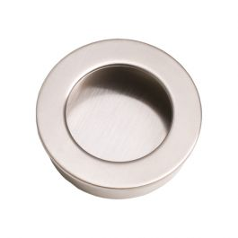 """Inset Handle """"Inlay Round"""" Stainless Steel Effect"""