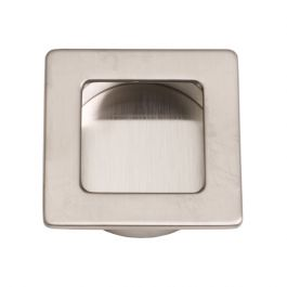 """Inset Handle """"Inlay Square"""" Stainless Steel Effect"""