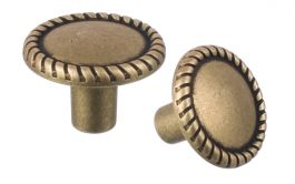 "Cabinet Knob ""Bavaria"" Patinated Brass"