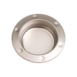 """Inset Handle """"Shield"""" Stainless Steel Effect"""